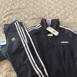 Adidas sweat pants and top